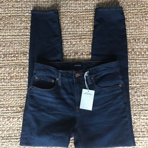 "J. Crew 9"" High Rise Jeggings in Blue Indigo H"